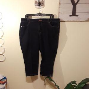 Lane Bryant dark wash pedal jean